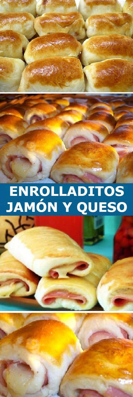 Receta Pan Casero: ENROLLADITOS de Jamón y Queso, Si te gusta dinos HOLA y dale a Me Gusta MIREN …