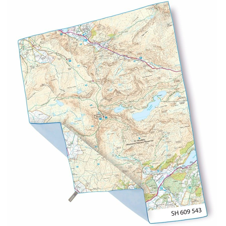 OS Snowdon Giant Trek Towel Map towel