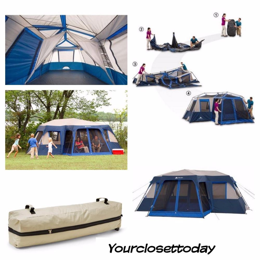 12 Person 2 Room Family Tent Instant SetUp Hiking C&ing Outdoor Cabin Dome XL  sc 1 st  Pinterest & 12 Person 2 Room Family Tent Instant SetUp Hiking Camping Outdoor ...