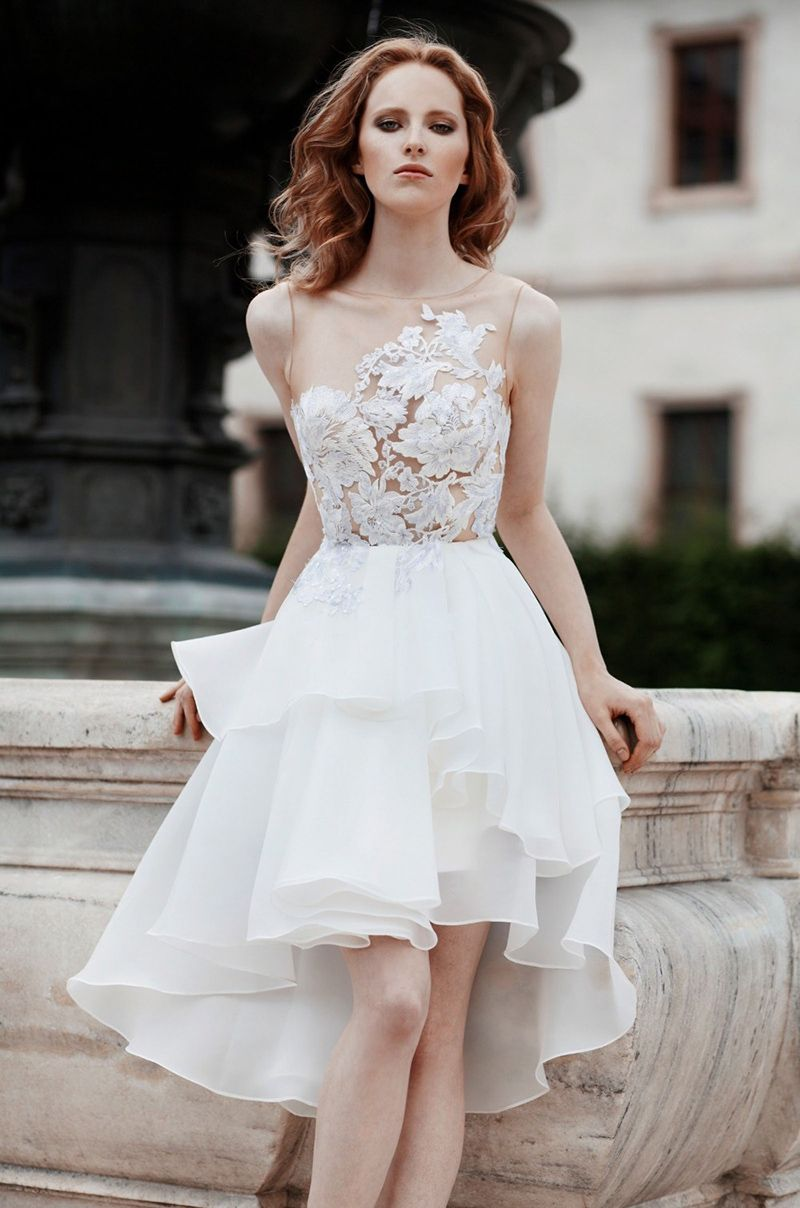 Cheap wedding dresses short front long back  short front long back formal wear dresses  Wedding u Evening