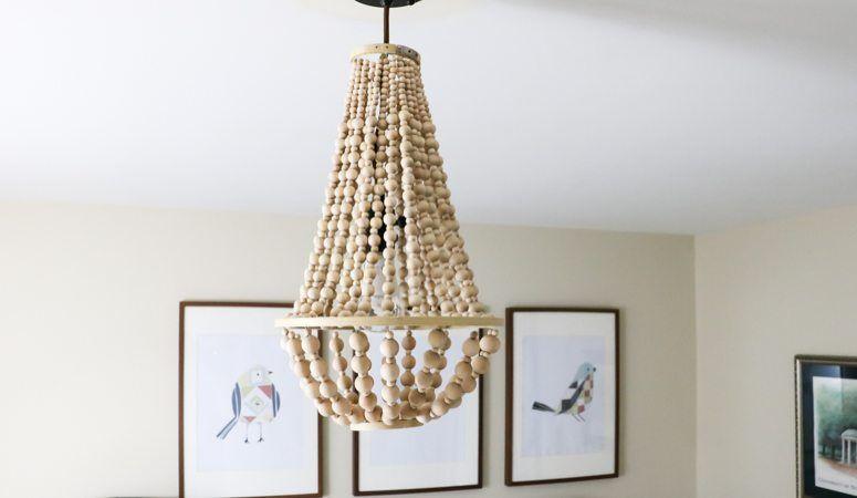 Diy chandelier from wood beads wood bead chandelier diy diy chandelier from wood beads aloadofball Gallery