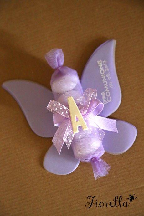 Farfalle Per Una Comunione Bomboniere Bomboniere Per Bambina Bomboniera