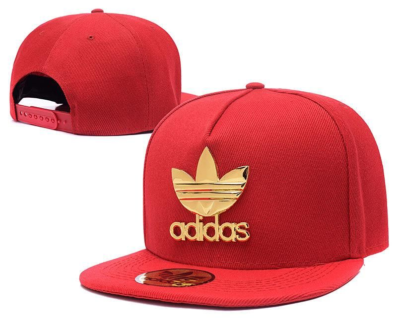 Mens Adidas The Original Iron Gold Metal Logo A-Frame 2016 Best Selling USA  Snapback Cap - Red 8cffd16ef77