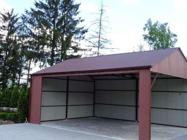 Garage Halle Blechgarage Stahlhalle Autolager 8x6m Inkl Versand Und Aufbau Technische Daten Abmessungen 8 X 6 M Satteldach Einf Stahlhalle Garage Blech