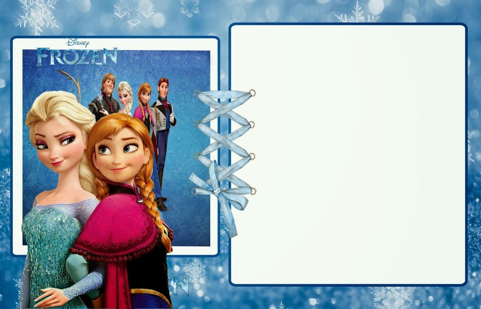 Frozen Party: Free Printable Invitations.   Disney Scrapbook ...