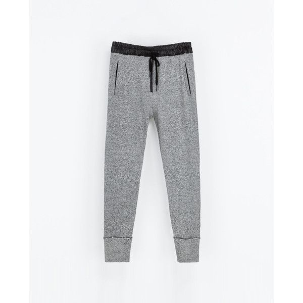 Zara Grey Velour Trousers ($20) ❤ liked on Polyvore featuring pants, zara, bottoms, trousers, gray trousers, grey pants, zara trousers, grey trousers and gray pants