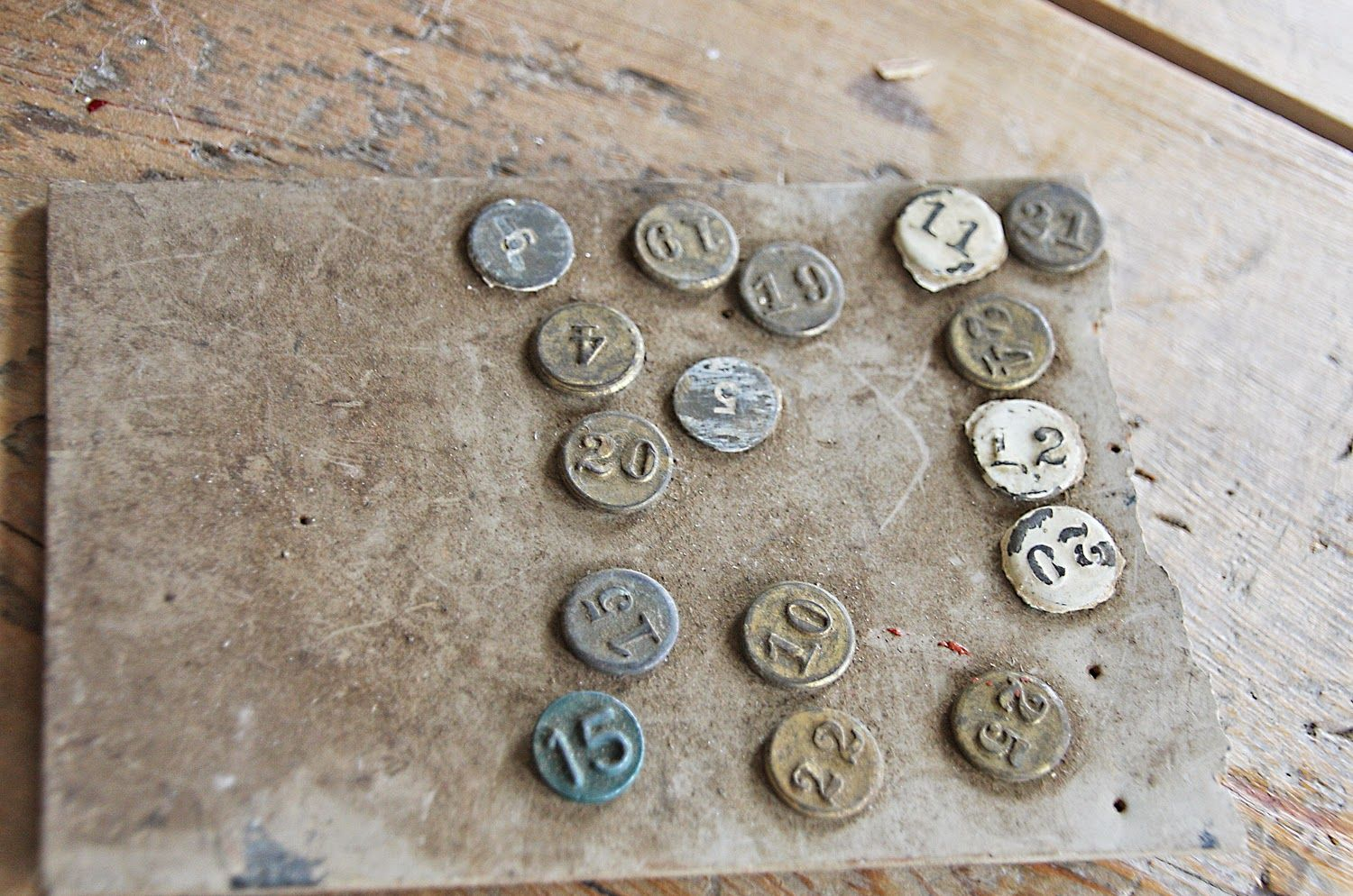 Vintage Numbered Window Markers owned by Jenni Bowlin
