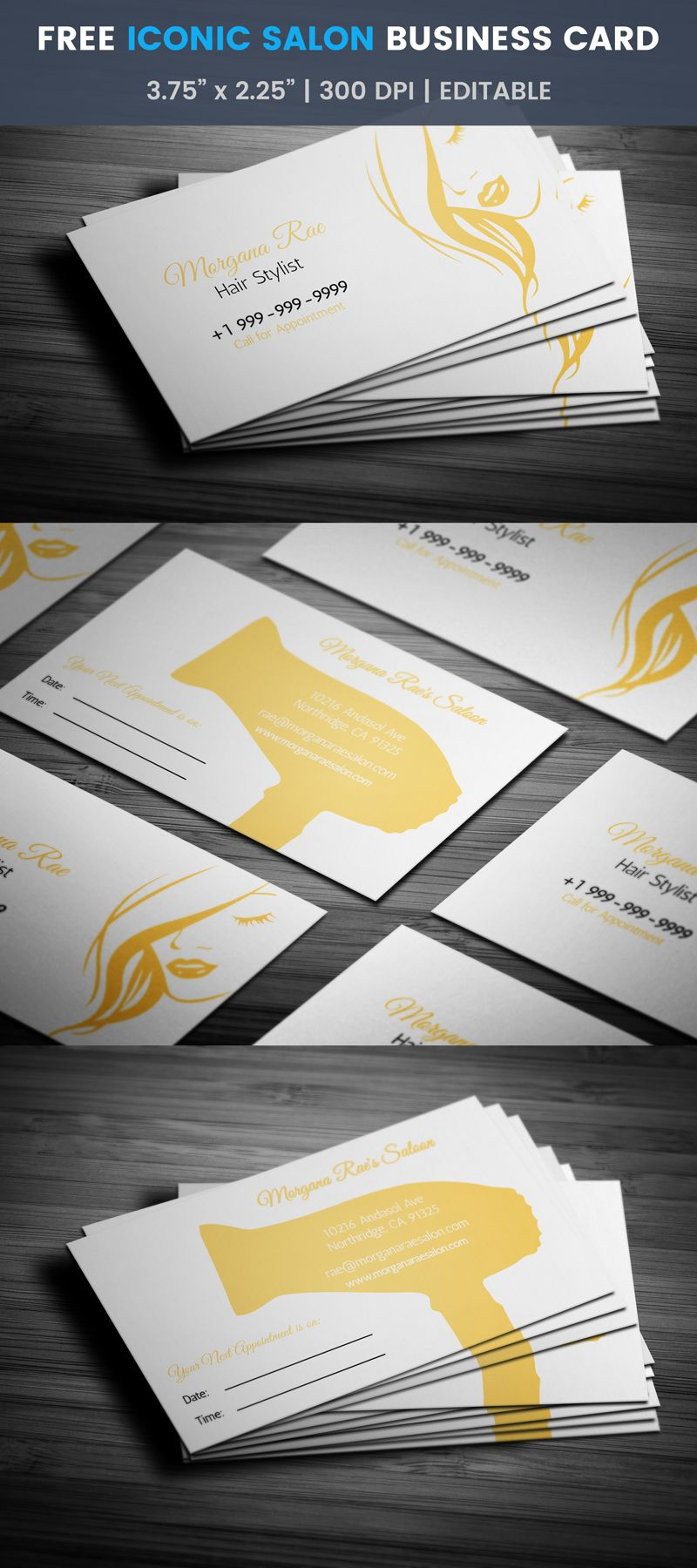 Stylish womens hair salon business card template style salon stylish womens hair salon business card template style salon accmission Gallery
