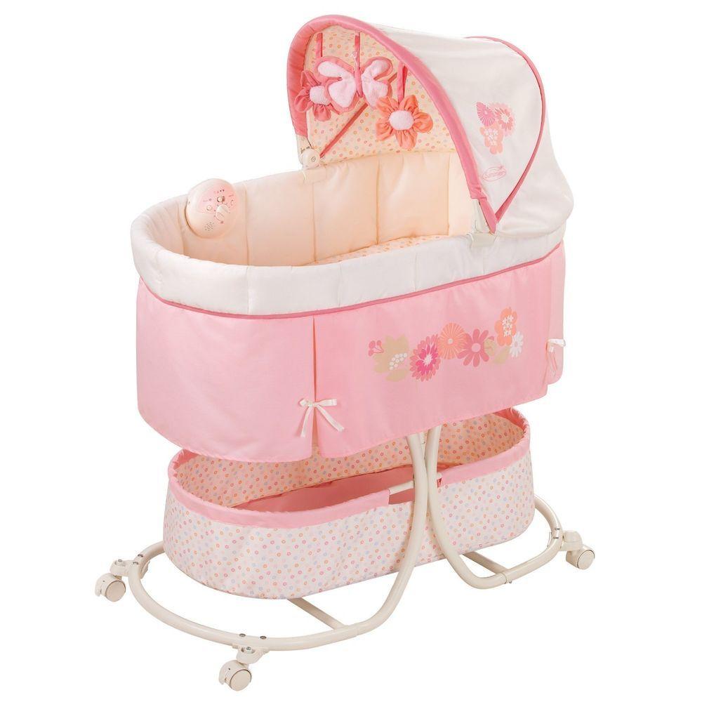 Summer Infant Soothe Sleep Bassinet W Motion Lila Locking