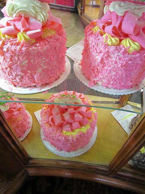 I must try the Pink Champagne Cake next time - Madonna Inn!