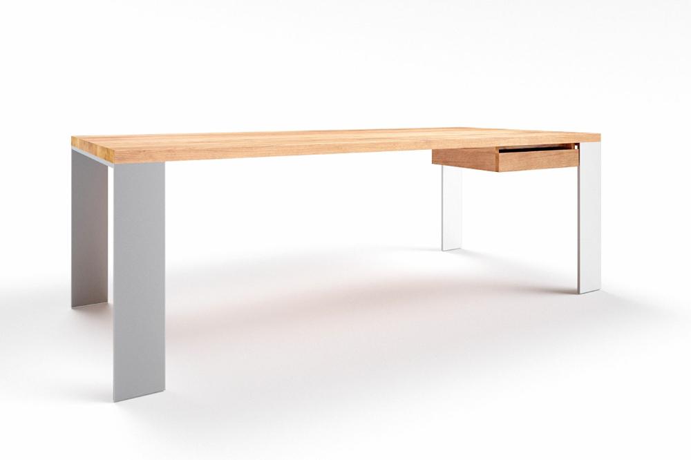 Schreibtisch massiv Eiche Hartok 15
