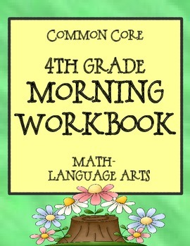 A 4th Grade Morning Workbook Bell Work For Language Arts And Math
