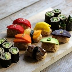 Who said sushi has to be fish all vegetable sushir food all vegetable sushir food allergy awareness day on tastespotting forumfinder Gallery
