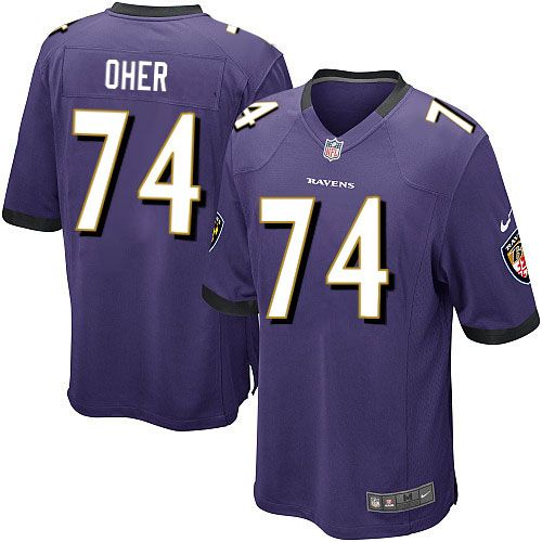 youth nike baltimore ravens 74 michael oher game purple team color nfl jersey nflravensgear