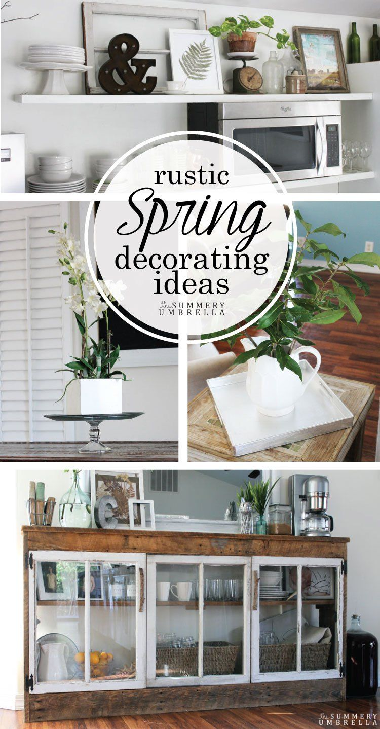 Rustic Spring Decorating Ideas + GIVEAWAY | Spring, Check and Funky junk