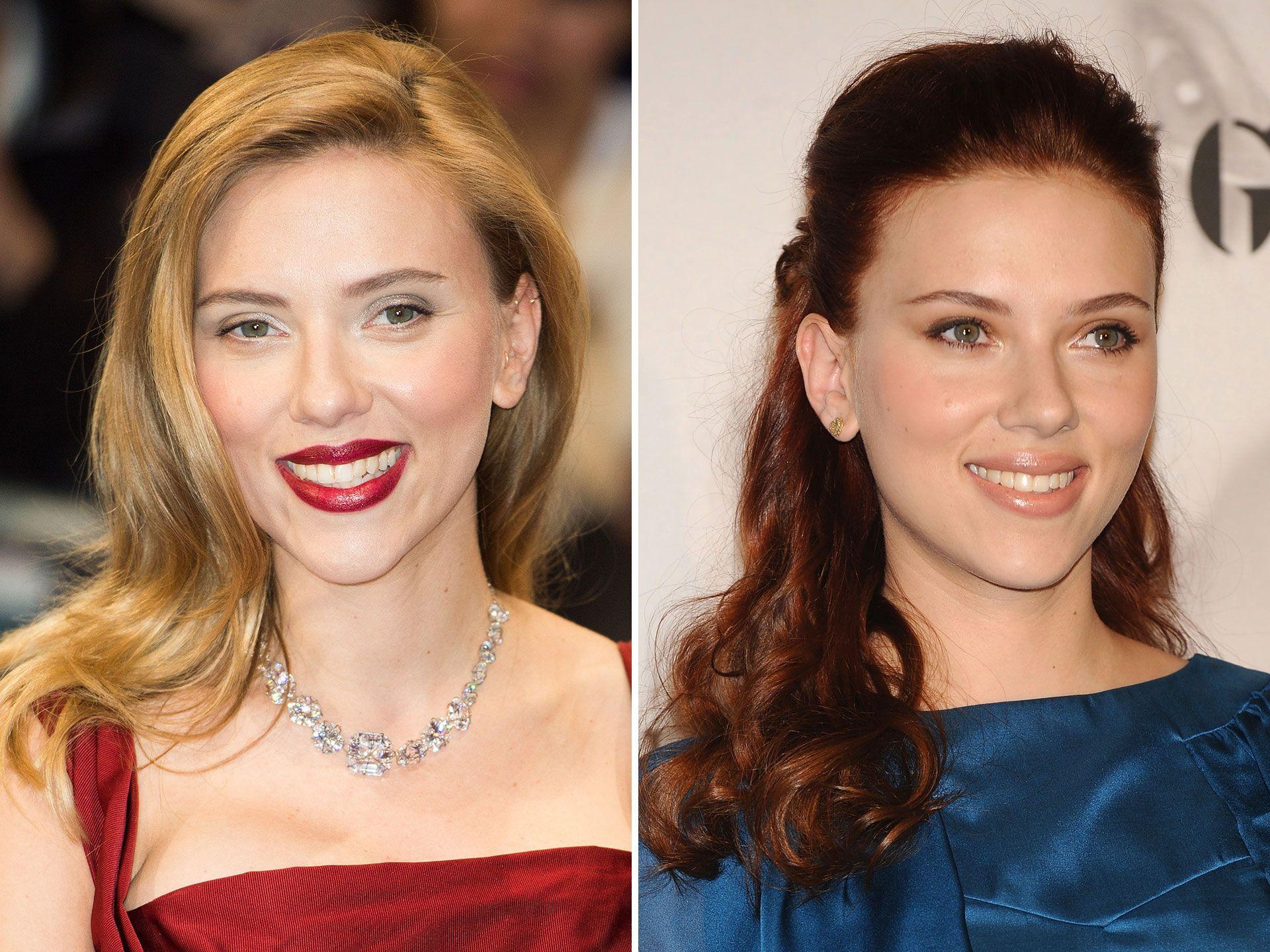 Lighter Locks Vs Darker Dos Stars Who Ve Had Both Short Blonde Hair Scarlett Johansson Red Hair Brunette To Blonde