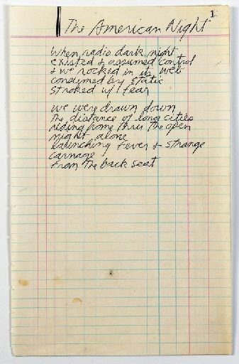 Jim Morrison's hand-written poem, entitled 'Anatomy of Rock', which was found in a metal box marked '127 Fascination' #thedoors #jimmorrison #poetry