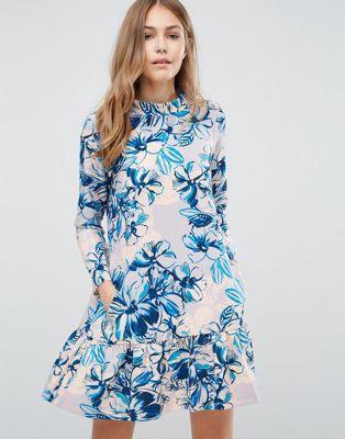 Closet Drop Waist Long Sleeve Floral Dress   my dream closet ...