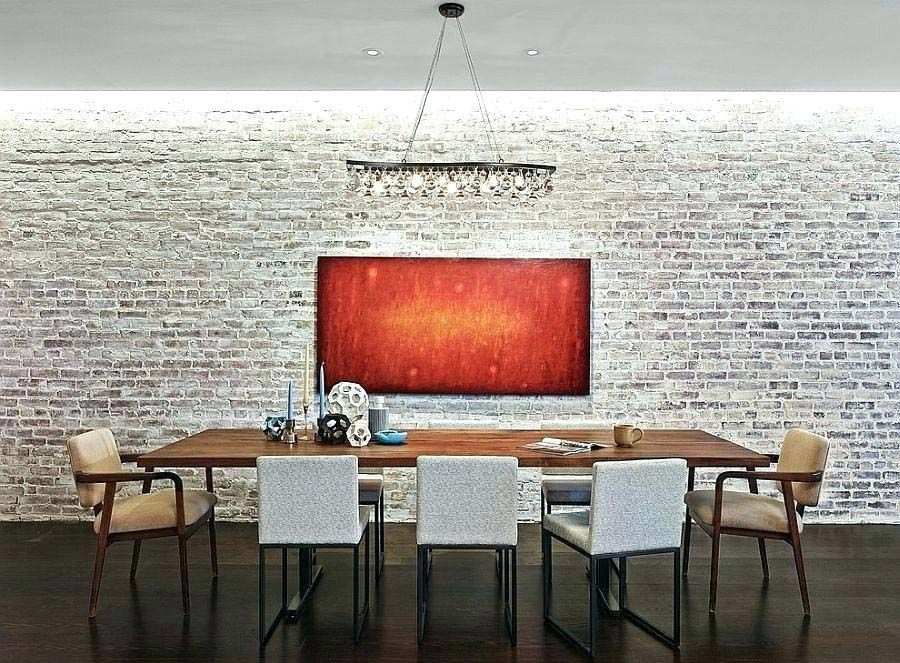 10 Strategies To Apply White Brick Wall In Various Rooms Archlux Net White Brick Walls Modern Dining Table Brick Wall Backdrop