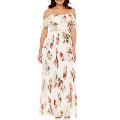 99067c3760e3 Bisou Bisou Short Sleeve Maxi Dress - JCPenney Affordable Dresses
