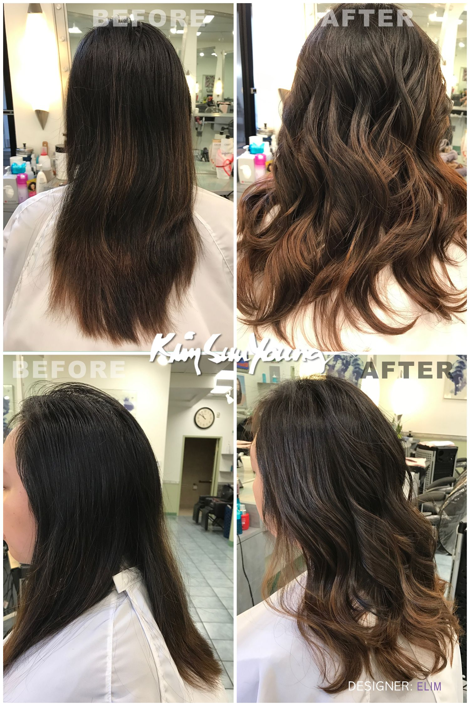 Balayage Perm By Elim At Ksy Kim Sun Young Beauty Salon Hair And Beauty Salon Hair Hair Straightening Treatment