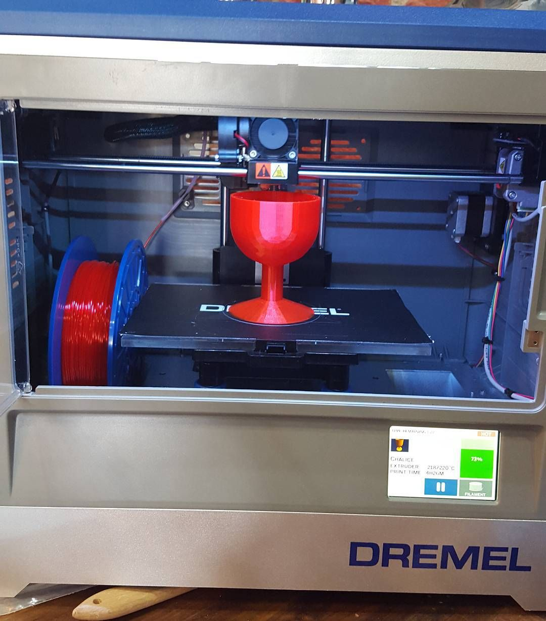 Please pass me my chalice my good sir! #3dPrinting #Dremel #GoMakeThings #SproutTour #HpSproutTour #Technology #Chalice #Red #Shiny by gomakethings_west