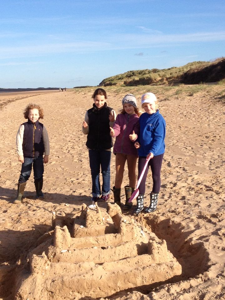 Brancaster beach in North Norfolk with the little ones.