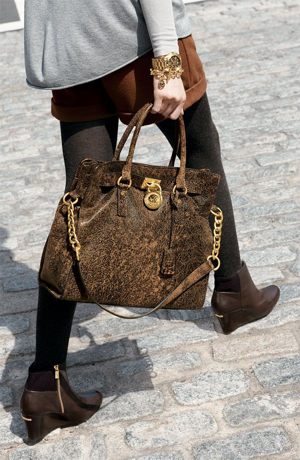 b197d841ca31c4 MICHAEL Michael Kors 'Hamilton - Large' Distressed Tote, $348. This bag is  the most wonderful speckled suede.