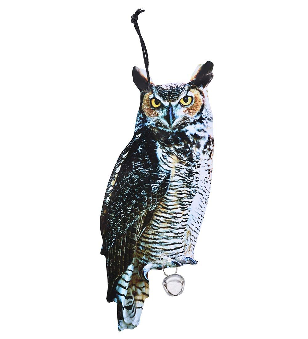 Hang this guy up to keep birds away from your garden...or