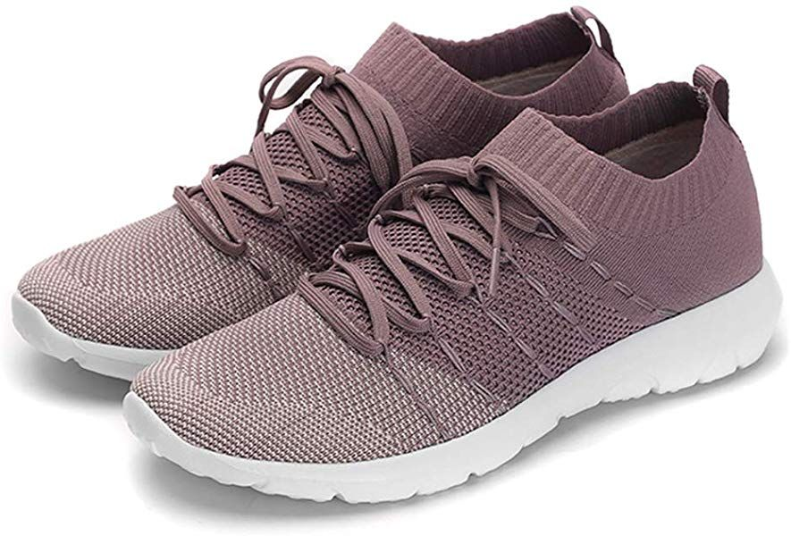 PresaNew Women's Athletic Walking Sneakers Lightweigh Casual Mesh  Comfortable Walk Shoes Purple | Comfortable work shoes, Walking shoes women,  Womens running shoes