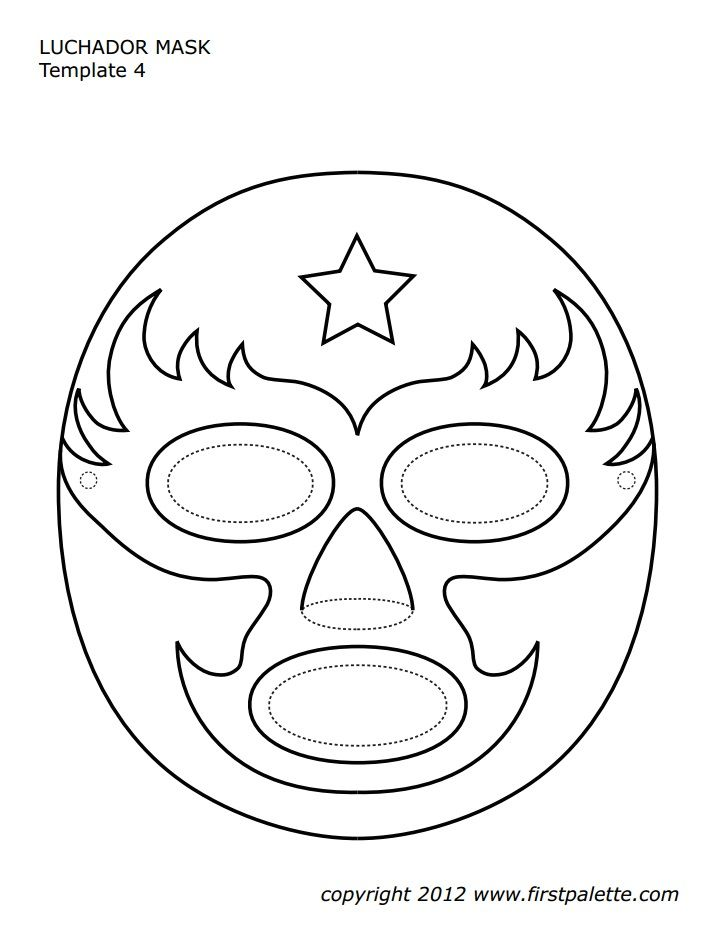 luchador mask template art school in 2018 mask template