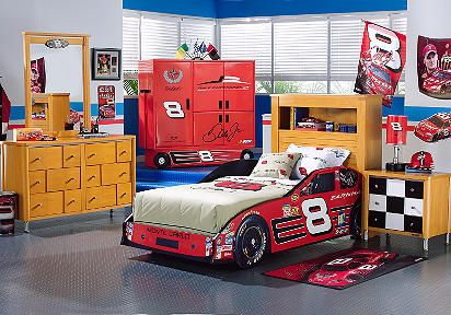 Superior Race Car Bedroom Decorating Ideas | To Decorate Kids Room Like The Oval  Nascar Race Track