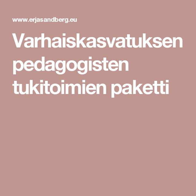 Varhaiskasvatuksen pedagogisten tukitoimien paketti