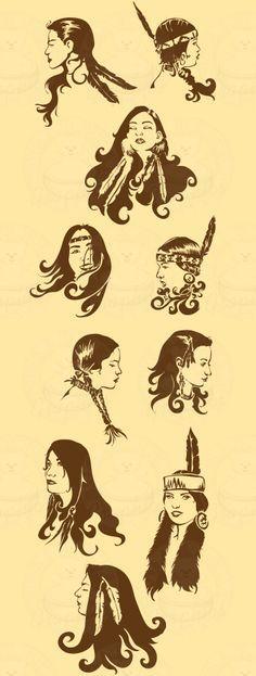 Native American Women Fantasy Art | Native American Women 2 Left - Sugarbear Graphics - (Powered by ...
