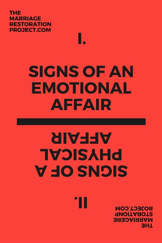 Online emotional affair signs