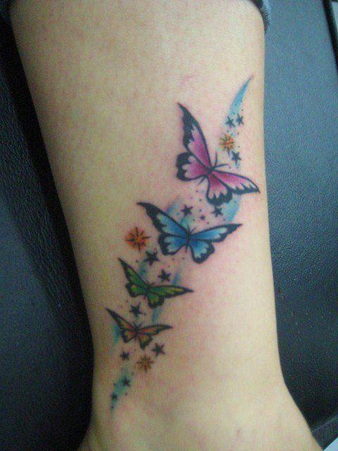 Mariposas Estrellas Pinterest Mariposas Estrella y Tatuajes