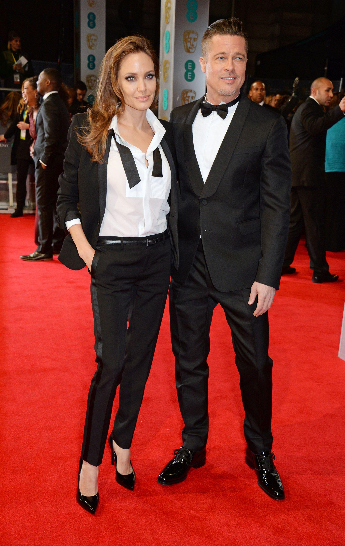 Brad Pitt Wears A Valentino Tuxedo To The Bafta 2014 At The Royal Opera House On February 16th 2014 In London Fashion Celebrity Street Style Brad Pitt