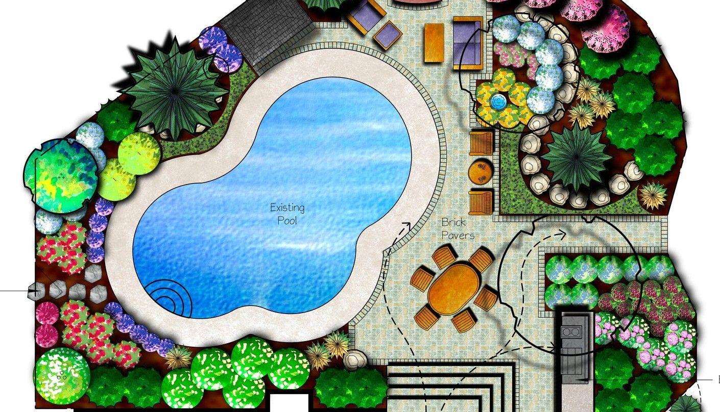 roundabout landscape plan drawings landscape plan pinterest. Black Bedroom Furniture Sets. Home Design Ideas