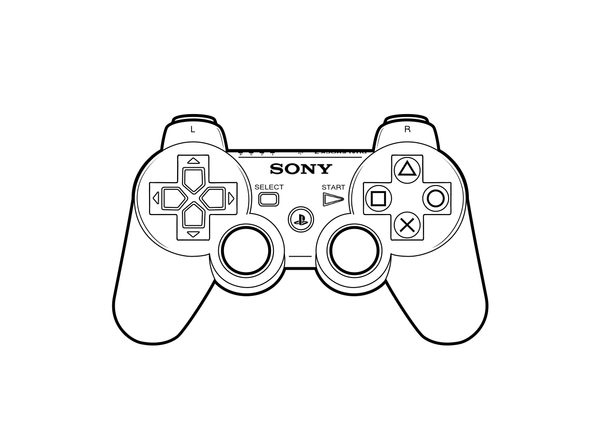 Playstation 2 Controller Outline