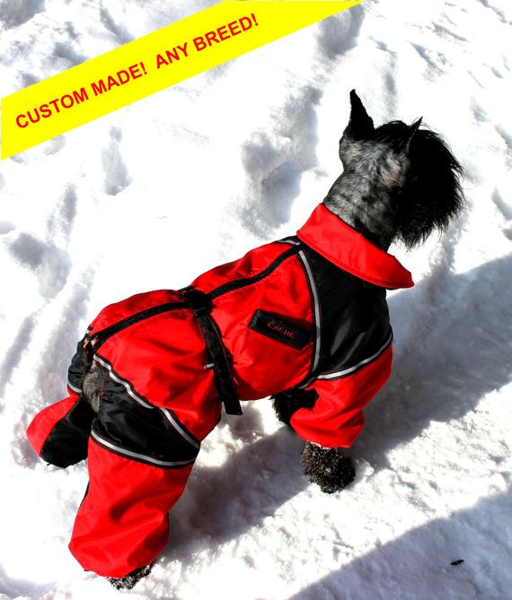 Dog Winter Clothes Custom Snowsuit Winter Full Body Jacket Coat Warm Large  Breed Dog Overall with Attached Boots (optional)  0cd43c3c8