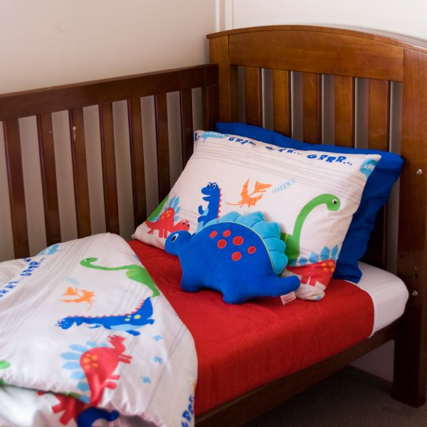 Pikapu mattress protector fitting a cot. Place protector near the pillow line and it will protect the bed against any tummy upsets to.
