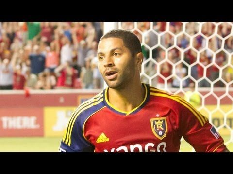 FOOTBALL -  GOAL: Alvaro Saborio gets a shot off surrounded by defenders   Real Salt Lake vs Colorado Rapids - http://lefootball.fr/goal-alvaro-saborio-gets-a-shot-off-surrounded-by-defenders-real-salt-lake-vs-colorado-rapids/