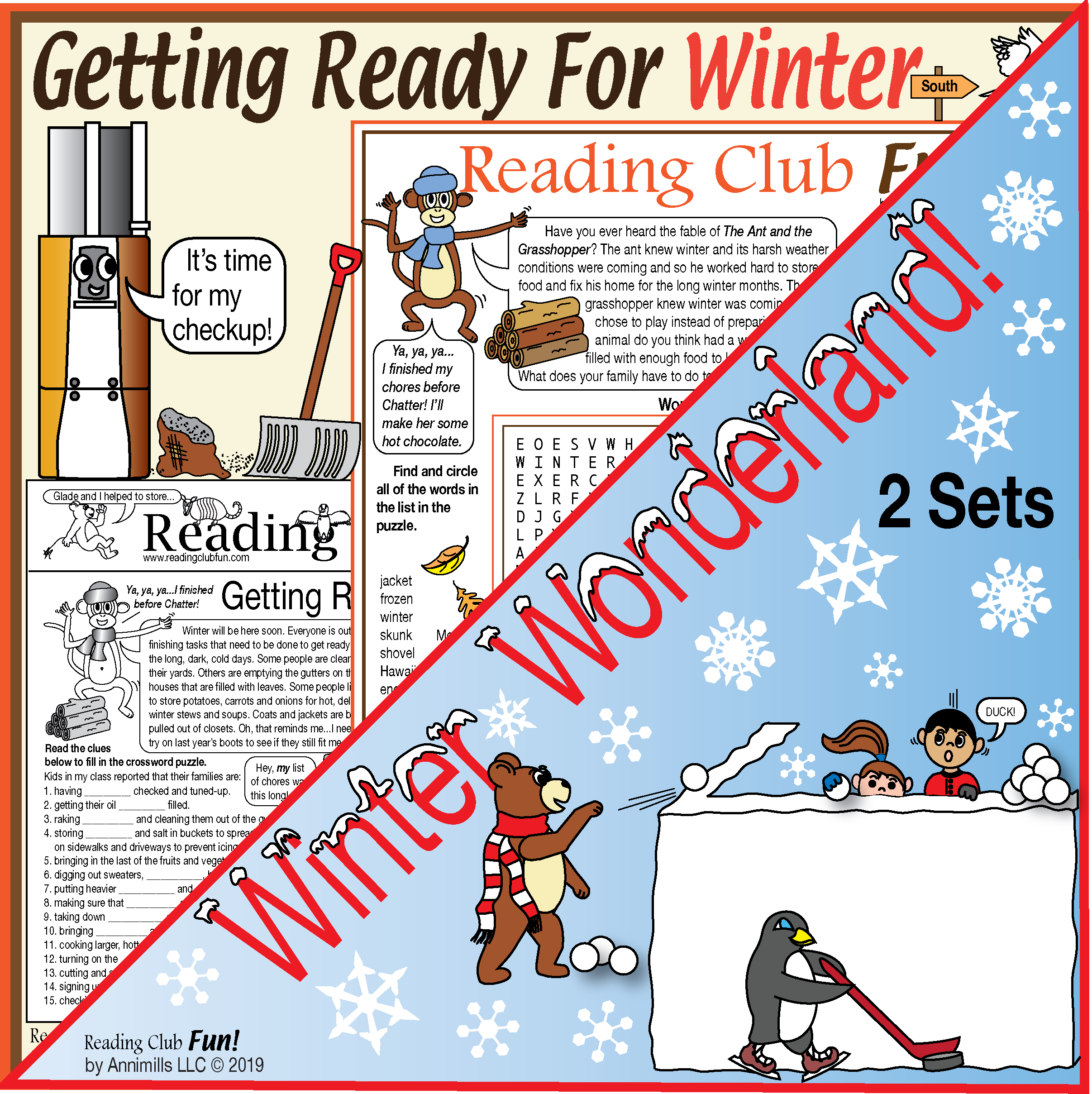 Getting Ready For Winter And Winter Wonderland Activity