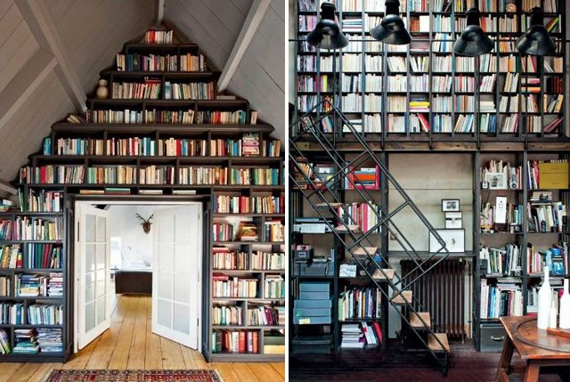 """""""A bookshelf is as particular to its owner as are his or her clothes; a personality is stamped on a library just as a shoe is shaped by the foot."""" -Alan Bennett"""