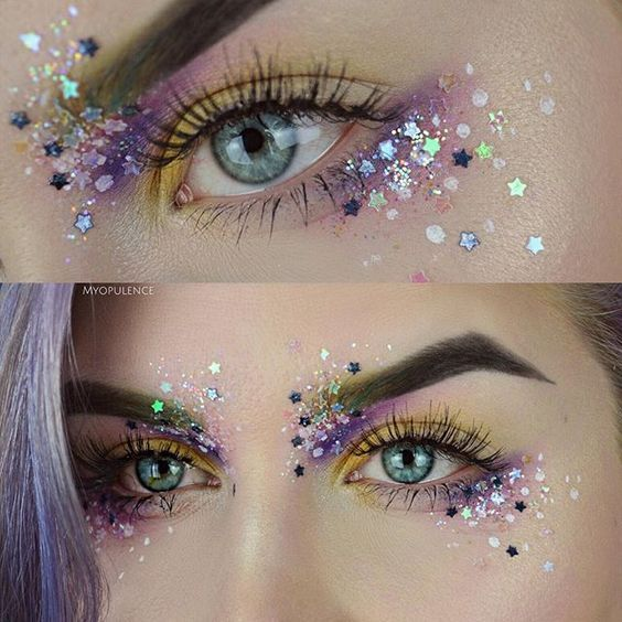 Photo of 10 Glam und Glitter Makeup Looks // #Looks #Glam #GlitzerMakeup