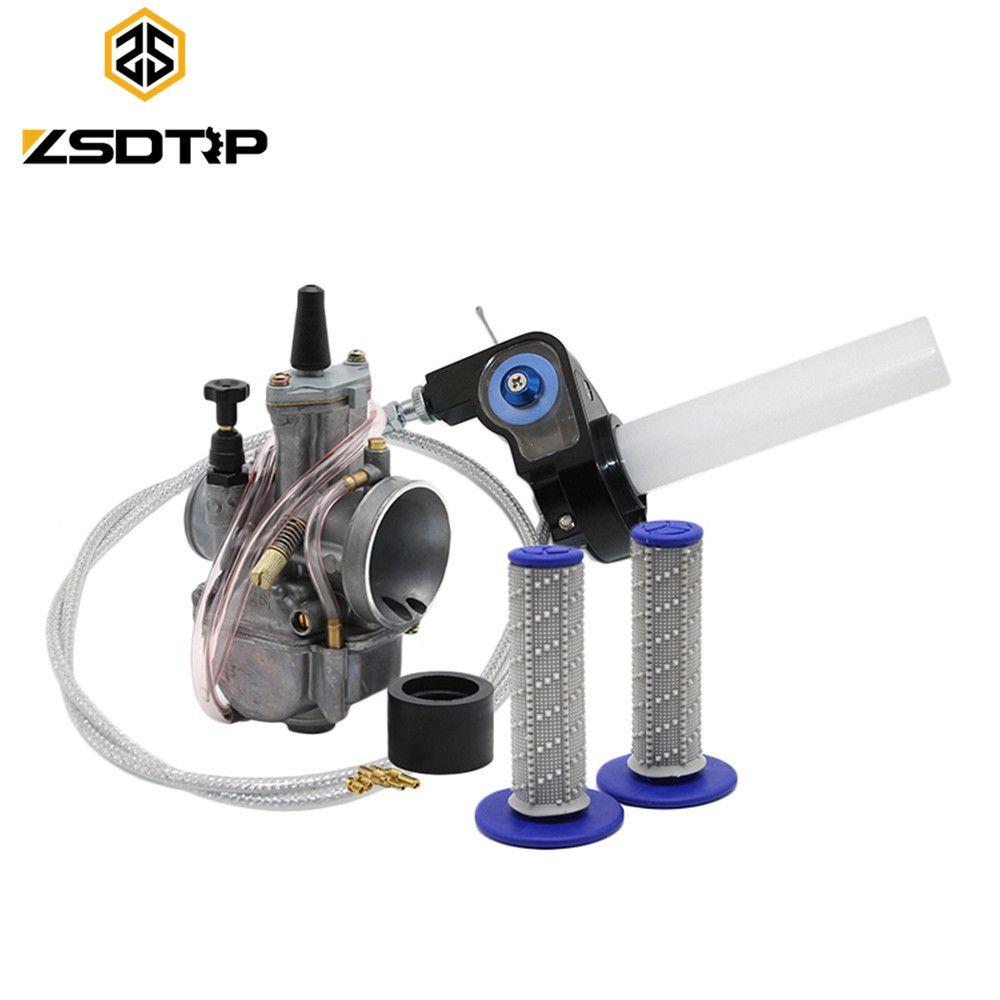 Zsdtrp 28 30 32 34 Mm Pwk Tuning Power Jet Accelerer Pompe Carburateur Visiable Twister Cable Main Case Poignees Pour Koso Keihin Motorcycle Accessories Carburetor Pumps