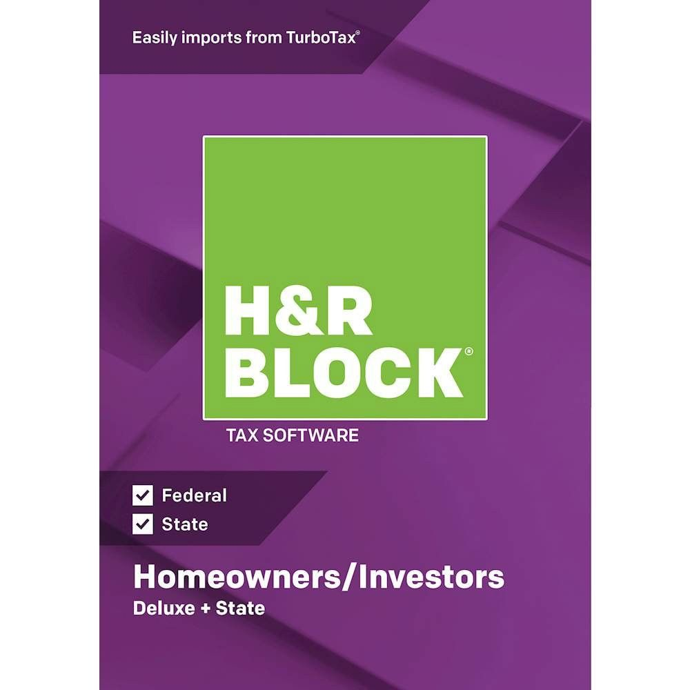 Home/office Software H&r Block H&r Block 18 Deluxe + State