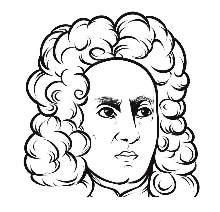 Face Angry Isaac Newton Coloring Page For Kids Kids