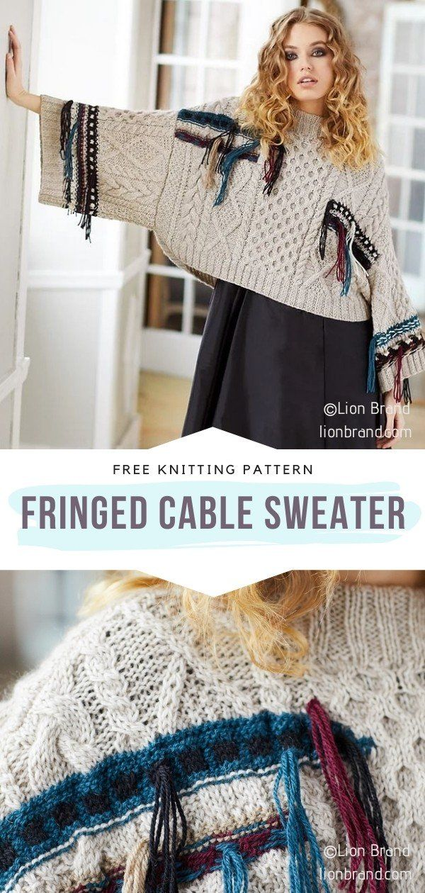 Photo of How to Knit Fringed Cable Sweater