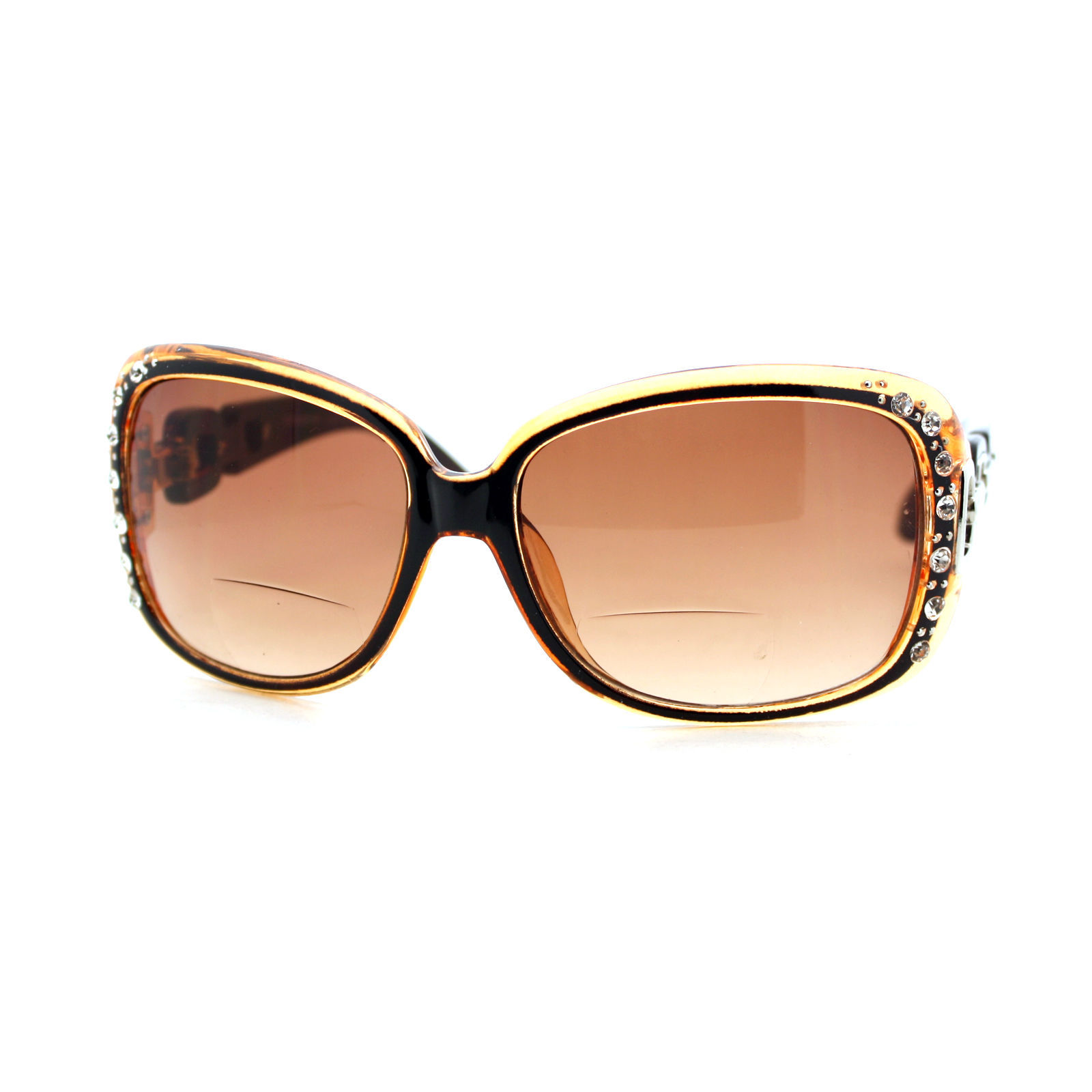 9.95$  Watch now - http://viinb.justgood.pw/vig/item.php?t=8ioqk41671 - Womens Bifocal Lens Sunglasses Oversized Square Rhinestone Frame